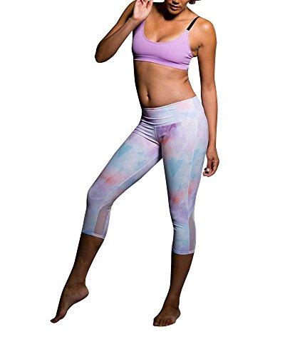 Onzie Yoga Sprinter Capri 272 Candy Cloud (Candy Cloud, Small/Medium)