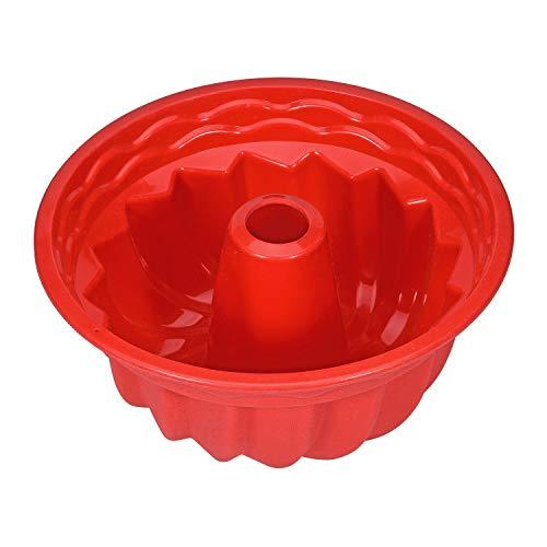Ecoki Silikon Gugelhupfform Ø24cm - LFGB Zertifiziert BPA-frei Silikon Backform für Köstlichen Gugelhupf - Antihaft & Leicht zu Reinigen 丨2 Jahren GARANTIE