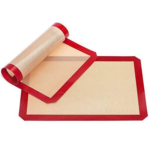 GYOYO [2 Stück Backmatte Silikon, Silikonmatte Teigmatte, Dauerbackfolie Backunterlage, BPA frei, antihaftbeschichtet,30x 40 cm