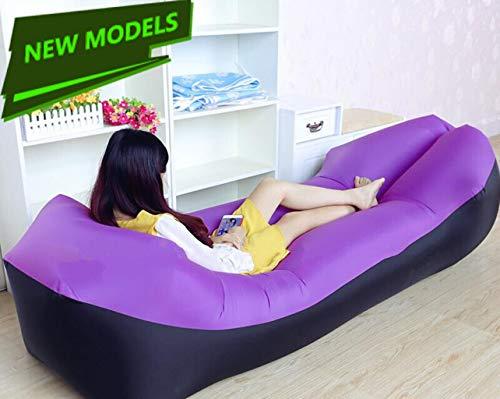 SxType opblaasbare bank, voor bed, laag gewicht, camping, U-vorm, opblaasbaar, voor de hals en voor gebruik binnen en buiten.