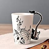 ukYukiko Tazze in ceramica dipinte a mano con note creative musicali, tazze da caffè