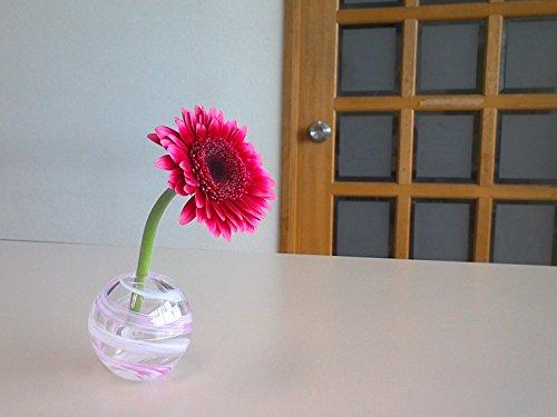 アデリア津軽びいどろ花器ピンク最大径7cm×高6.5cm花紀行桜流し一輪挿し1個箱入日本製F-71662
