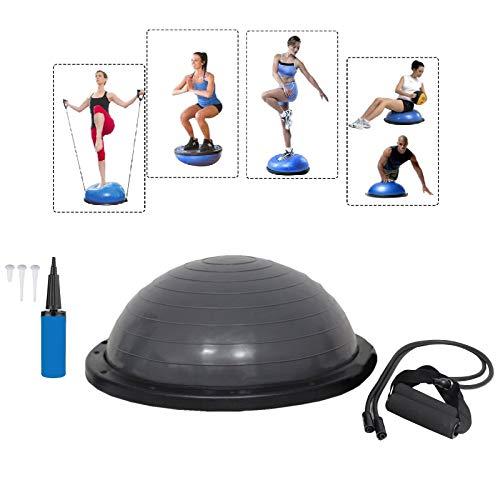 Baumarktplus Yoga Gymnastik Balance Half Ball Trainingsball Gymnastikball Pink Blau Lila (Grau)