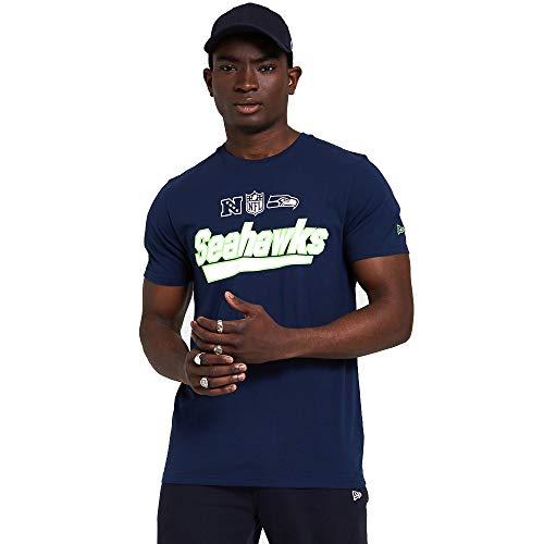New Era Seattle Seahawks NFL Trikot Jersey American Football Fanshirt Blau Weiss - L
