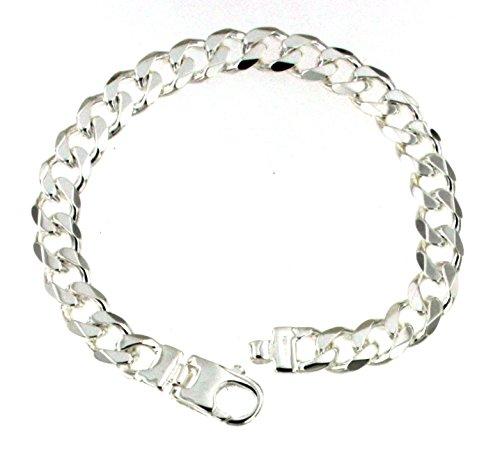 Panzerarmband 925 Silber 8 mm 17 cm Silber-Armband Damen Herren-Armband Herren-Schmuck ab Fabrik tendenze Italy D-G8-17v