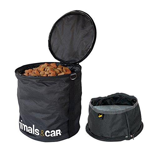 ANIMALS&CAR Kit pieghevole borsa crocchette 5kg + ciotola
