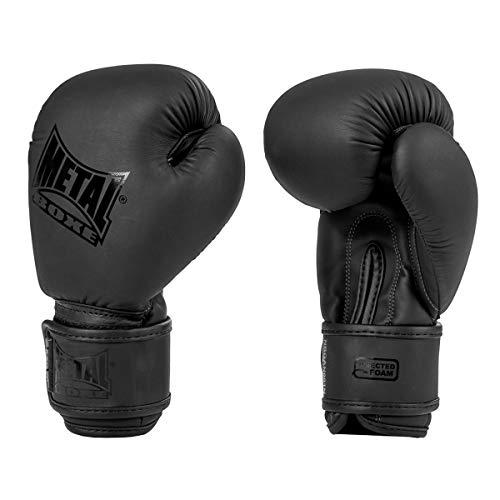 Metal Boxe - Guanti da boxe per bambini, colore: Nero