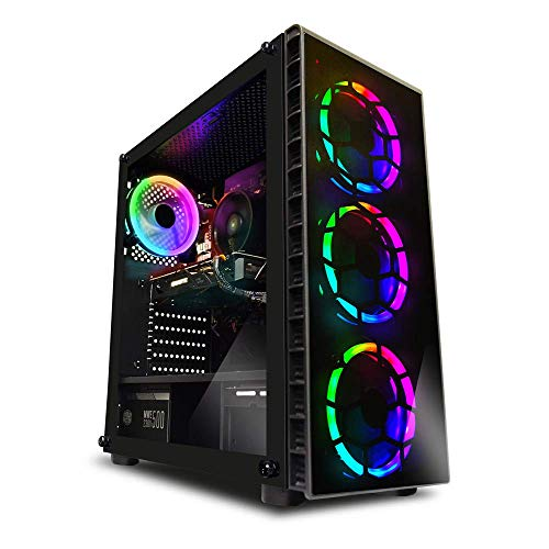 ADMi GAMING PC (Intel Pentium G4560 3.5Ghz CPU Dual Core, NVIDIA GTX 1060 3GB GDDR5 tarjeta de gráficos, HDMI, USB 3.0, 8GB 2133MHz DDR4 de memoria RAM, disco duro de 1 TB, 24x DVDRW Drive, 500W PSU de bronce, caja de la PC Gaming Red Vantage , Windows 10)