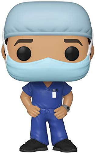 Funko Pop! Heroes: Front Line Worker- Male Hospital Worker #1, Multicolor