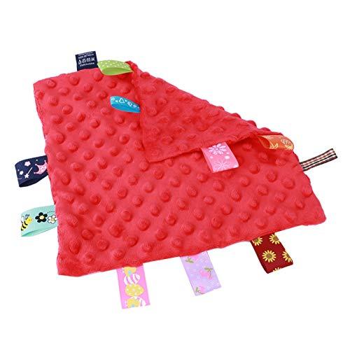Toalla infantil no tóxica Inofensiva Sin fluorescente Color tridimensional Pañuelo de bebé Algodón para desarrollar la inteligencia(red)