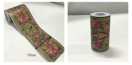 Duradero y fácil de INSTALAR papel pintado del cap Vintage Flower Aves...