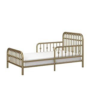 Little Seeds Monarch Hill Ivy Metal Toddler Bed, Gold