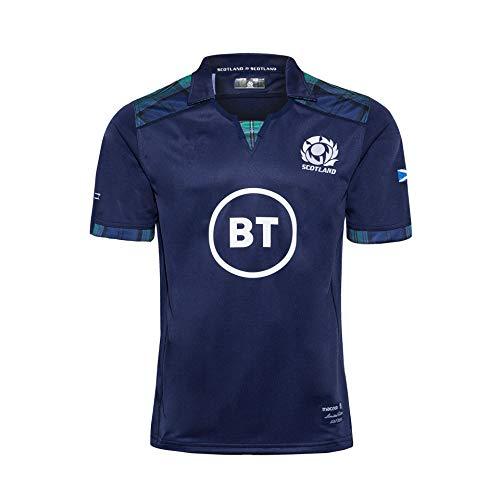 LQWW Camiseta NRL, camiseta de rugby 2020 de la selección nacional de las seis naciones, versión de fanáticos de bordado (color: Escocia, talla: S)