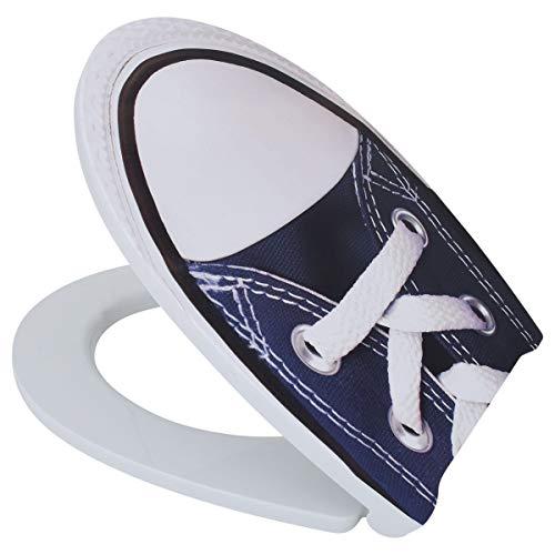 LUVETT WC-Sitz LU-C600 Dekorsitz, oval mit Absenkautomatik SoftClose® & TakeOff® EasyClean Abnahme, Duroplast Toilettendeckel, Farbe:Sneaker