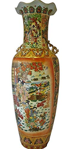 Oriental Furniture Warehouse Japanese Porcelain Satsuma Vase, 36