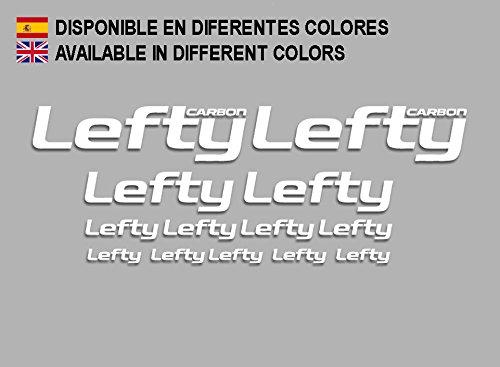 Ecoshirt DI-XJCK-4XD6 Lefty Carbon F186 Sticker Decals Sticker, Wit