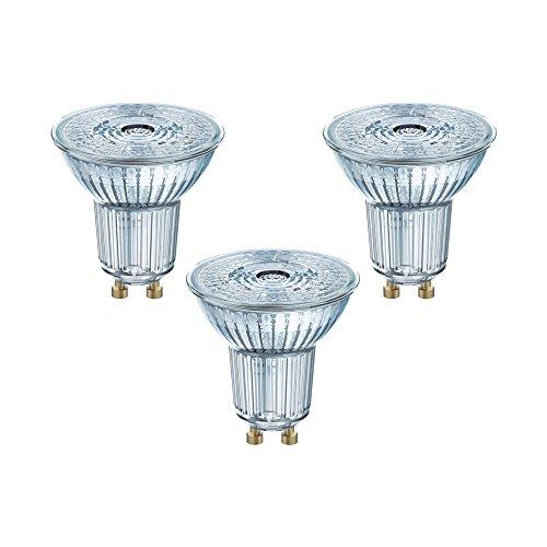 Osram LED Base PAR16 Reflektorlampe, mit GU10-Sockel, nicht dimmbar, Ersetzt 4,3 Watt, 36° Ausstrahlungswinkel, Warmweiß - 2700 Kelvin, 3er-Pack
