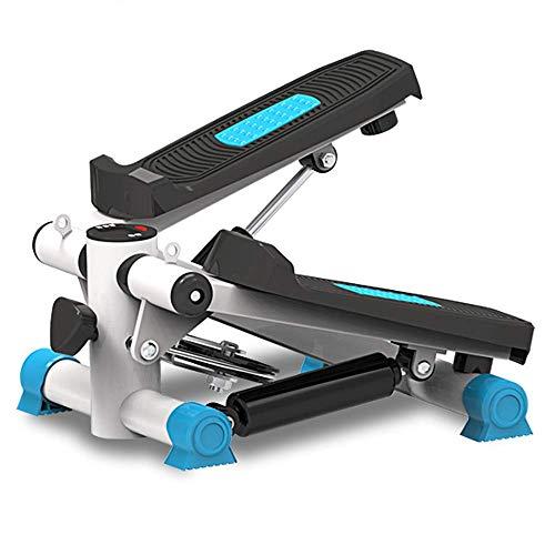 Ejercicio paso a paso, ejercitador aeróbico casero para piernas, glúteos, entrenamiento de adelgazamiento, mini paso a paso multifunción con monitor LCD, cordón y alfombra, silencioso hidráulico, sopo