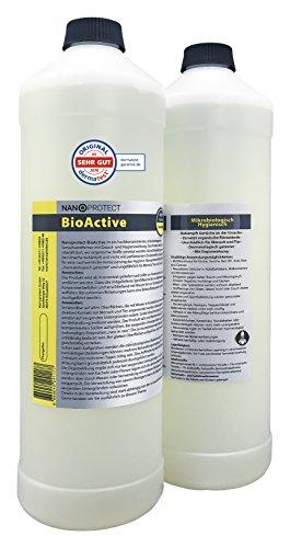 BioActive Geruchsneutralisierer Konzentrat | Biologischer Geruchsentferner mit speziellem Wirkbeschleuniger | Refill Set für 4 Liter | Natürlich & Hygienisch