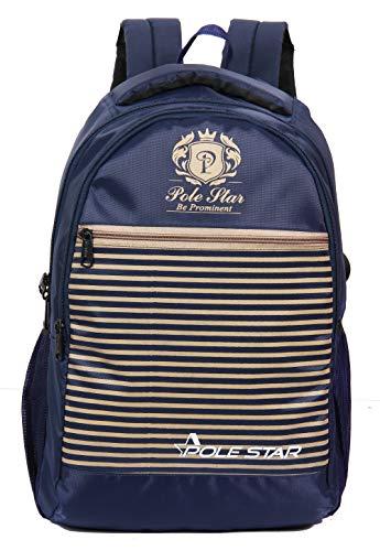 POLESTAR 30 Ltrs School Bags (PS_AMAZPRO_STRIP_NAVY_BG_Navy Blue)