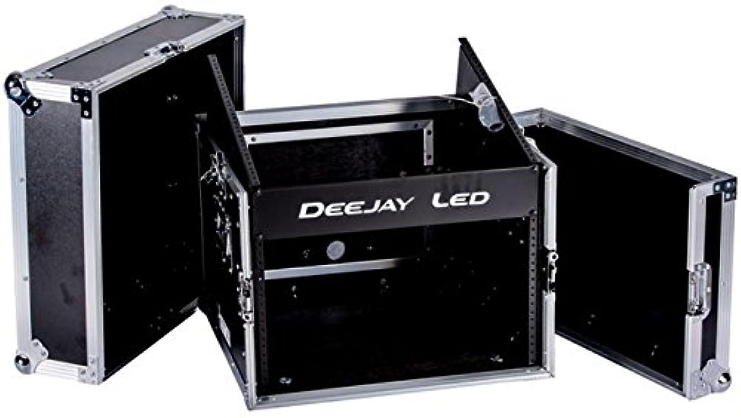 DEEJAYLED TBH Flight CASE 10U Slant Mixer 6U Vertical Rack System with Full AC Door (TBHM6U)