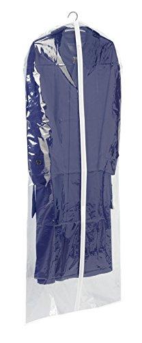WENKO Kleidersack Transparent 150 x 60 cm - Kleiderhülle, Polyethylen-Vinylacetat, 60 x 150 cm, Transparent
