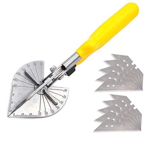 GGkeging Tijeras de ángulo de sujeción lateral de 45-90 grados U Tijeras de ángulo multifuncionales Tijeras multifuncionales para hidráulico y electricista con 10 cuchillas de repuesto
