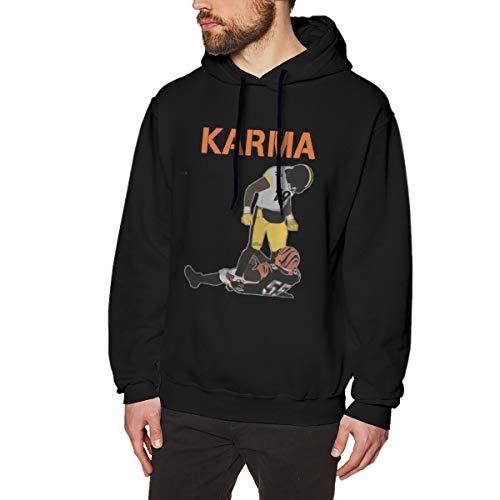 MYHL Men's Karma Graphic Fashion Sport Hip Hop Hoodie Sweatshirt Pullover Tops