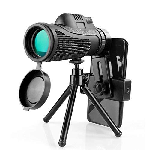 WZDD Monokular Starscope Teleskop 40x60, HD High Power Monokular Fernglasmit Smartphone Adapter Stativ, FMC BAK4-Prisma Monokulares Für Vogelbeobachtung Camping Reisende