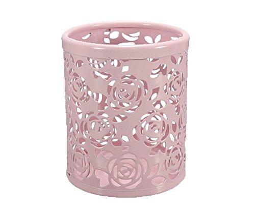 Leisial Solide Couleur Pot de Fleurs Vase à Plante Décoration de la Maison (Rose Métal)