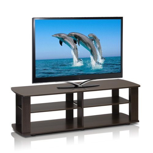 Furinno 11191DBR Entertainment Center, Dark Brown