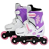 Sk8 Zone By Eurotrade Girls' HW219414 SK8 Zone Pink Roller Blades Inline Adjustable Size Childrens Kids Pro...