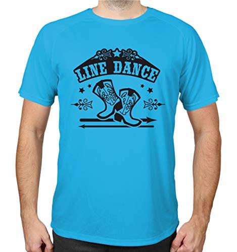 buXsbaum® Sport Performance T-Shirt Line Dance | S, Azur