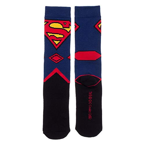 Product Image 2: Bioworld Superman Suit Up Crew Socks, Black
