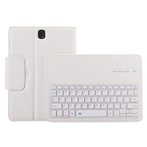 LICHONGGUI For Galaxy Tab S3 9.7 / T820 2 in 1 Detachable Bluetooth Keyboard Litchi Texture Leather Case with Holder (Color : White)