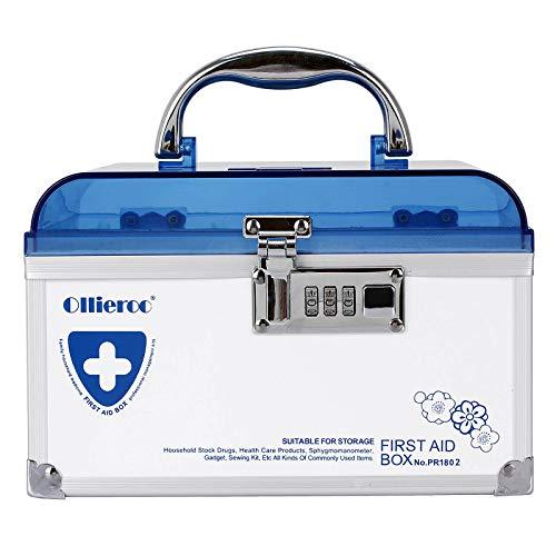 Remylady Erste Hilfe Tasche Medizin Aufbewahrungsbox Medikamentenbox Medikamentenbox tragbar Medizinbehälter blau (Einzelschicht)