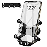 AMAYGA Air Vent Car Phone Holder Universal Air Outlet Car Phone Bracket Phone Car Gravity Mount for iPhone 11 Pro Max Xs Max XR X 6S 7 8 Plus, Samsung Galaxy S9 S7 Edge S8 S10 S6 Smartphone