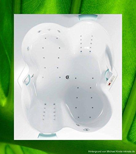 Badewanne ATHINA 180x155 - 155x180 Acryl DUO-Badewanne Whirlpool - Badewanne 180 Massagewanne