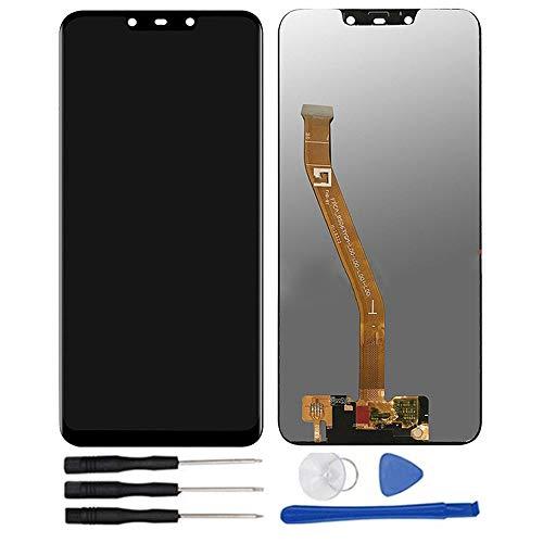 soliocial Assemblea Schermo Sostituzione LCD Display Digitizer Touch Screen Vetro per Huawei Mate 20 Lite SNE-LX1 SNE-LX2 SNE-LX3 SNE-L01 SNE-L21 SNE-L23 6.3 inch Nero