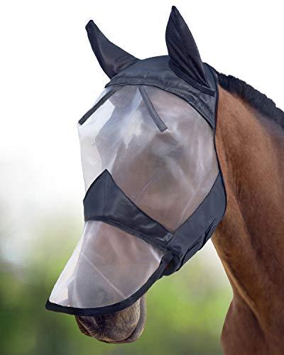 Harrison Howard CareMaster Maschera Anti-Mosche per Cavallo UV Protezione Pieno Volto (M;...