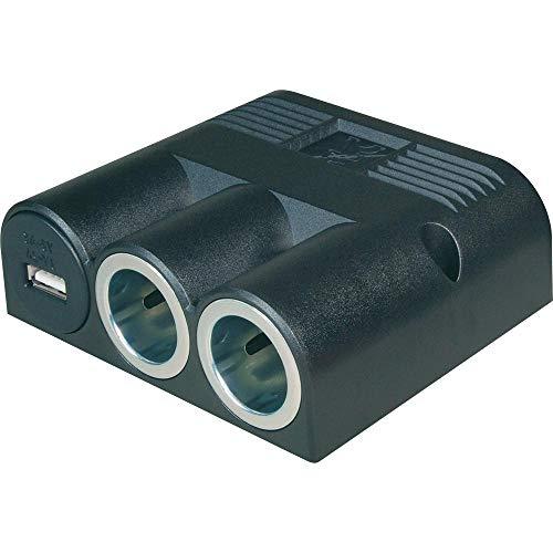 Pro Car Drievoudige stekkerdoos met opbouw, USB 1 x 3000 mA