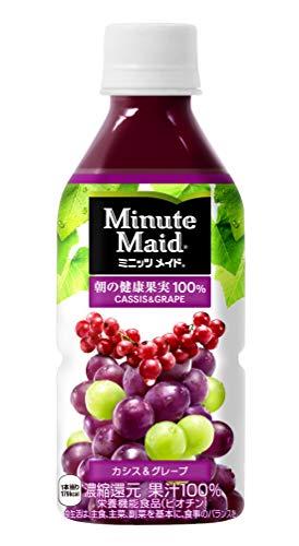 コカ・コーラ ミニッツメイド 朝の健康果実 カシス & グレープ 果汁100% 350mlPET×24本