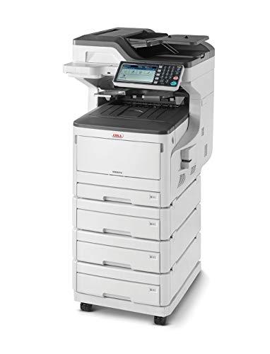 OKI MC873dnv Multifunktionsdrucker (Farbe, Kopieren, Drucken, Scannen, Faxen, A3, 35 Seiten/Min., 1.200x600 dpi, LAN, WLAN optional, Duplexdruck, 10.000 Seiten/Monat, max 60.000 Seiten)