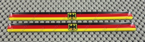 Germany Deutschland Crest Wide Flag 3d Domed Decal Sticker (2pcs)