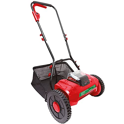 Bergman Pro Cordless Lightweight 10KG Lawn Mower With Cutting Height Adjustment And 30L Grass Collection Bag Incl.40V 2.5Ah Li-on Battery