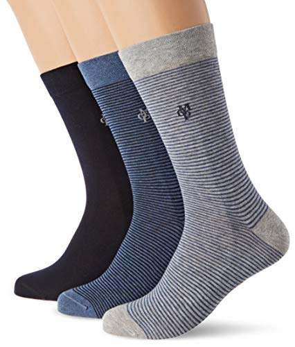 Marc O'Polo Body & Beach Damen W (3-PACK) Socken, Blau (Navy 815), 35/38 (Herstellergröße: 400) (3er Pack)