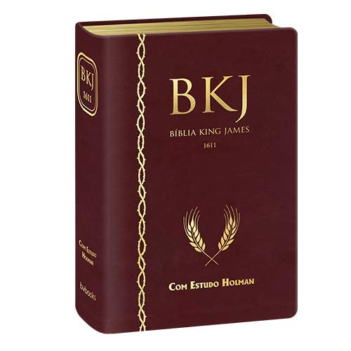 Bíblia King James De Estudo Holman - Vinho