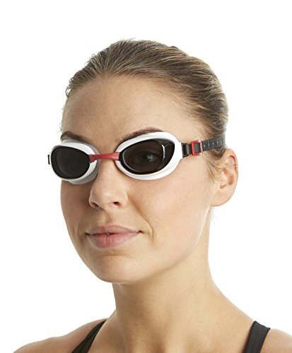 Speedo Unisex Schwimmbrille Aquapure, red/smoke, one size, 8-090028912