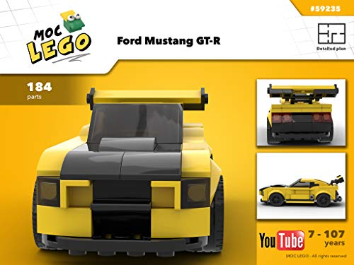 Ford Mustang GT-R (Instruction Only): Moc Life (English Edition)
