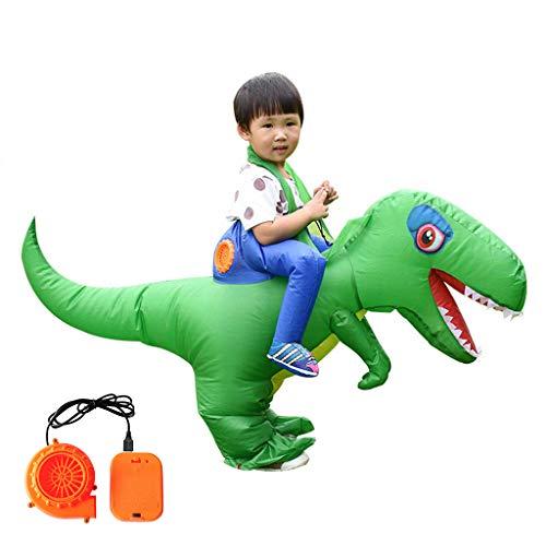 WT-YOGUET Inflable Adultos Niños Montar Disfraz de Dinosaurio Mascarada Cosplay Ropa de...